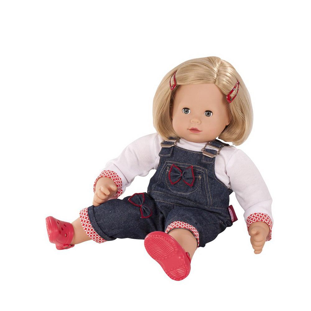 Купить Кукла - Маффин, блондинка в джинсовом комбинезоне, 42 см, Gotz