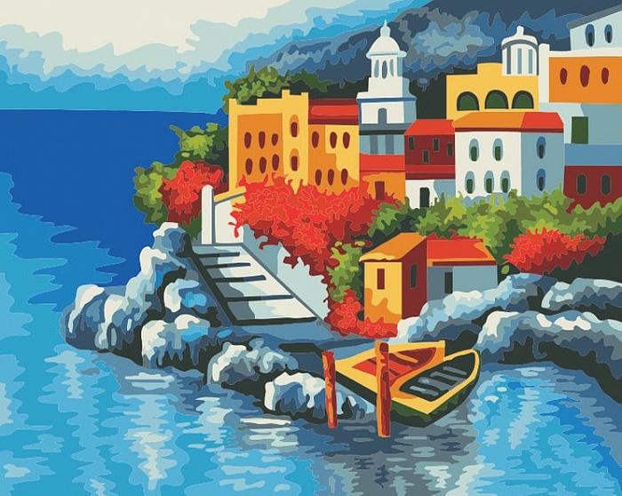 Раскраска по номерам СредиземноморьеРаскраски по номерам Schipper<br>Раскраска по номерам Средиземноморье<br>