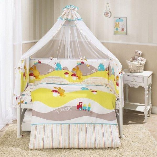 Комплект постельного белья для детей Perina™ - Кроха, веселый кроликДетское постельное белье<br>Комплект постельного белья для детей Perina™ - Кроха, веселый кролик<br>
