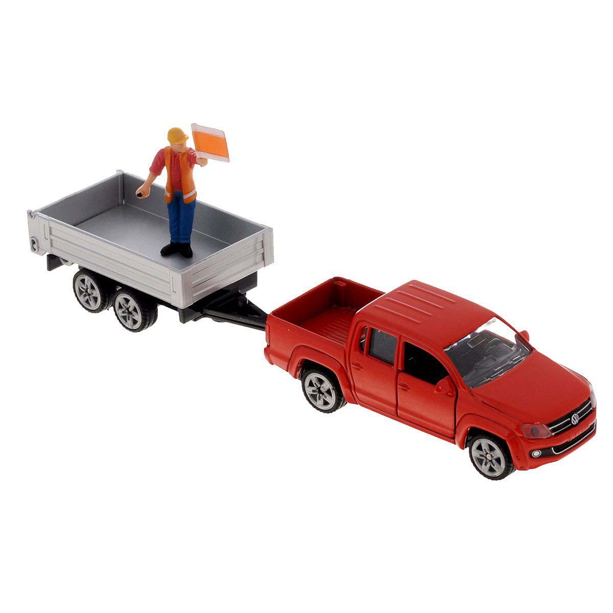Купить Игрушечная модель - Машина с прицепом, 1:55, Siku