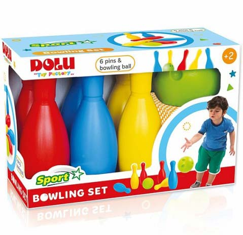 Купить Мега набор для детского боулинга: 6 кеглей, 1 шар, Dolu