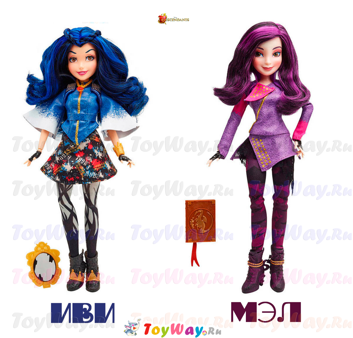 Descendants. Куклы Мол и ИваКуклы Дисней Descendants<br>Descendants. Куклы Мол и Ива<br>
