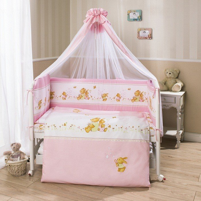 Комплект постельного белья для детей Фея - розовыйДетское постельное белье<br>Комплект постельного белья для детей Фея - розовый<br>