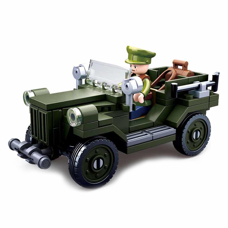 Конструктор - Военная машина с фигуркой, 112 деталей по цене 185