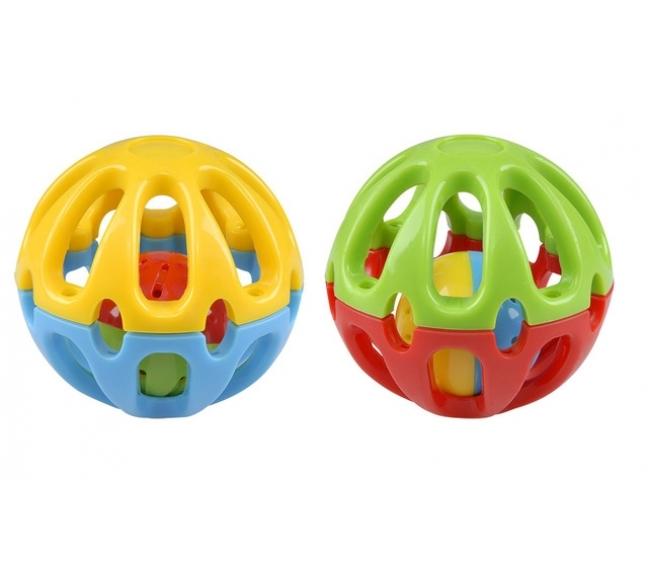 Развивающая игрушка Мяч-погремушка, диаметром 8,6 см.Детские погремушки и подвесные игрушки на кроватку<br>Развивающая игрушка Мяч-погремушка, диаметром 8,6 см.<br>