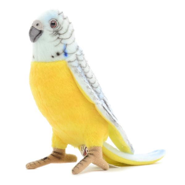 Мягкая игрушка – Попугай волнистый голубой, 15 см.Животные<br>Мягкая игрушка – Попугай волнистый голубой, 15 см.<br>