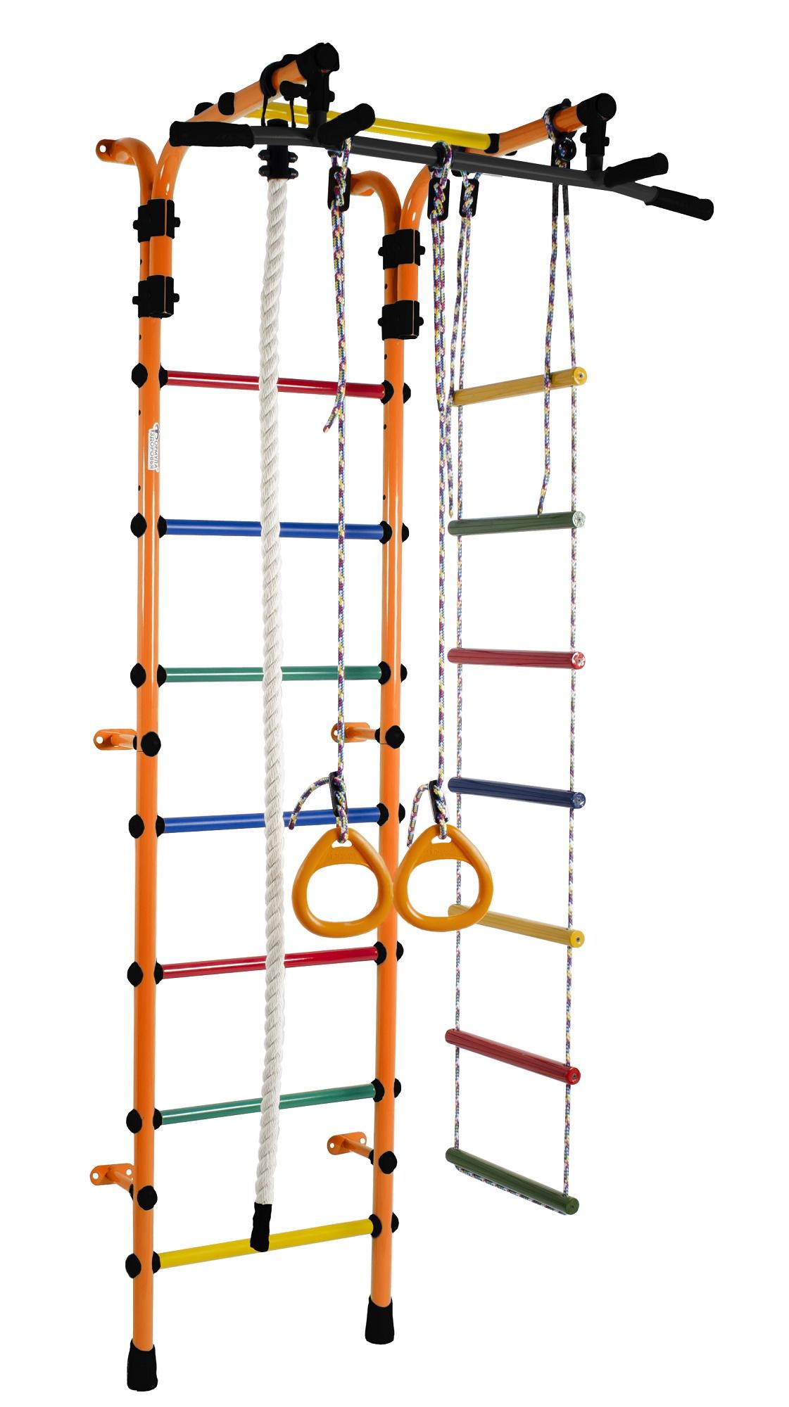 Купить Детский спортивный комплекс Орлёнок-1А Плюс, цвет - оранжевый/радуга, Формула здоровья