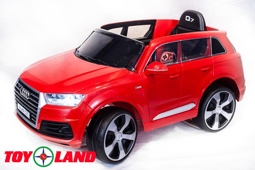 Электромобиль Audi Q7 красныйЭлектромобили, детские машины на аккумуляторе<br>Электромобиль Audi Q7 красный<br>