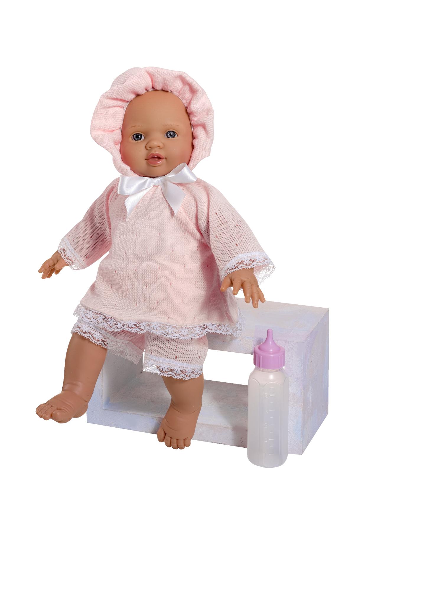 Кукла Popo в розовом костюмчике, 36 см.Куклы ASI (Испания)<br>Кукла Popo в розовом костюмчике, 36 см.<br>