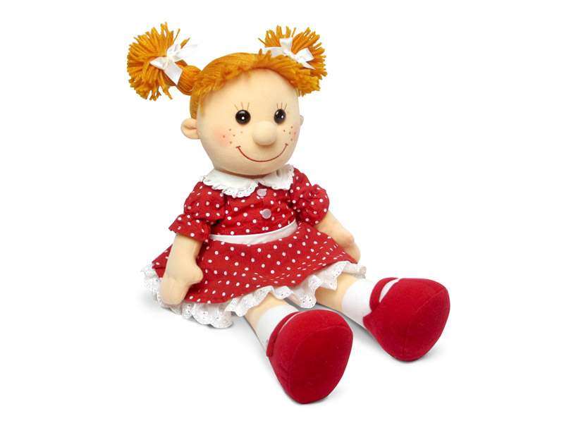 Кукла Майя в красном платье в горошек музыкальная - Мягкие куклы, артикул: 170359