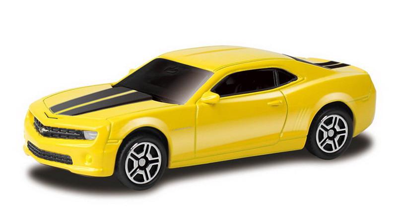 Купить Металлическая машина - Chevrolet Camaro, 1:64, желтый, RMZ City