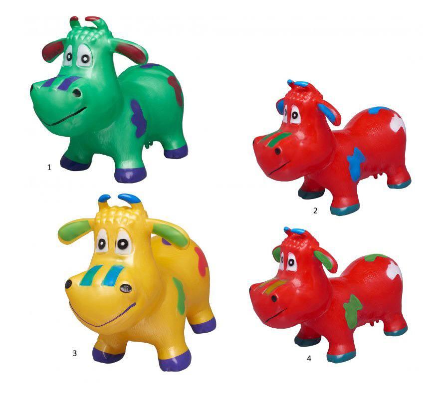 Животное-прыгун Бычок, 4 цветаДетские кресла-качалки<br>Животное-прыгун Бычок, 4 цвета<br>