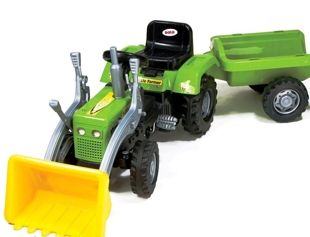 Купить Педальный трактор-экскаватор с прицепом, Dolu