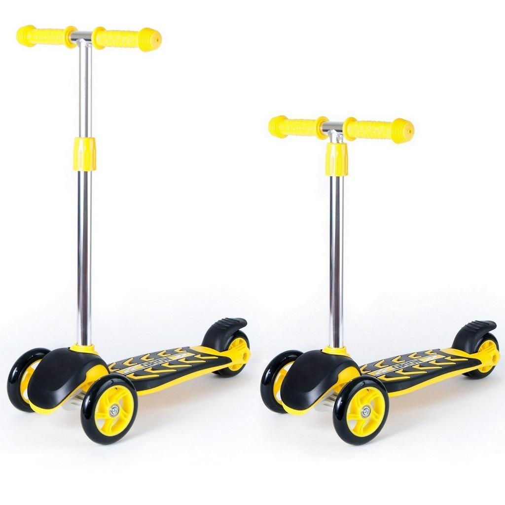 Детский трехколесный самокат RT ORION MIDI 164A, желто-черныйТрехколесные самокаты<br>Детский трехколесный самокат RT ORION MIDI 164A, желто-черный<br>