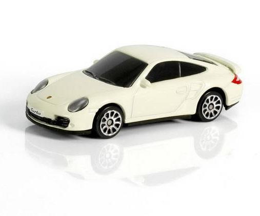 Машина металлическая Porsche 911 Turbo, 1:64, 2 цвета - белый, красныйPorsche<br>Машина металлическая Porsche 911 Turbo, 1:64, 2 цвета - белый, красный<br>