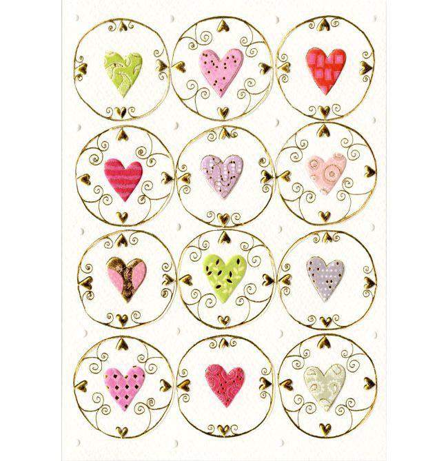 Открытка – Сердца и арабескиОткрытки, плакаты, календари<br>Открытка – Сердца и арабески<br>