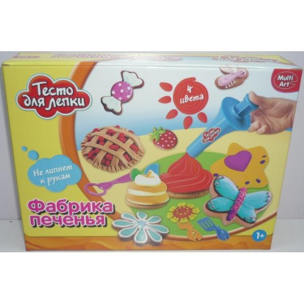 Тесто для лепки - Фабрика печенья, 4 цветаНаборы для лепки<br>Тесто для лепки - Фабрика печенья, 4 цвета<br>