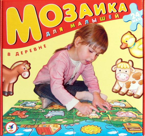 Мозаика для малышей. В деревнеПазлы для малышей<br>Мозаика для малышей. В деревне<br>