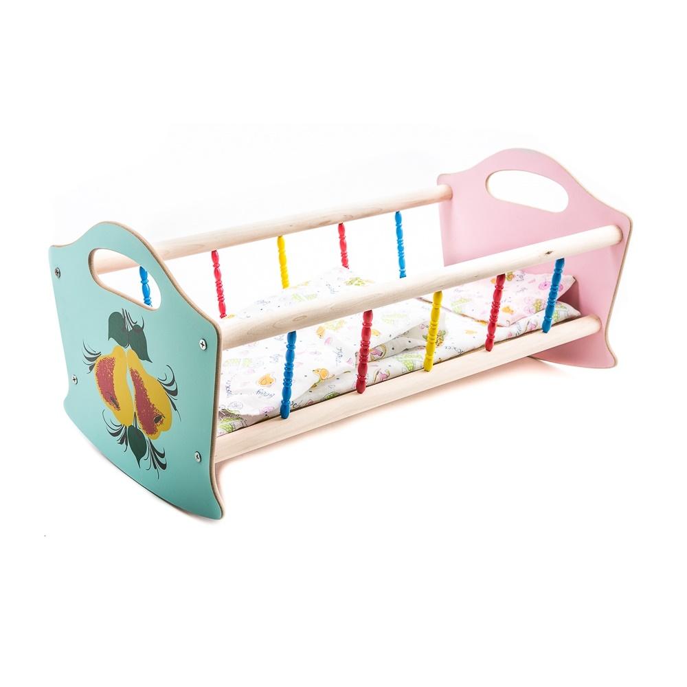 Кроватка деревянная для кукол - Детские кроватки для кукол, артикул: 160560