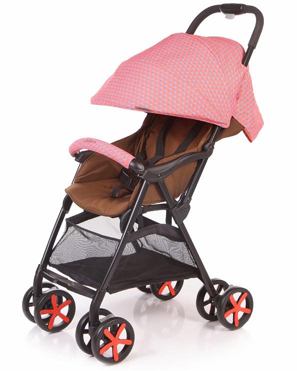 Коляска прогулочная Carbon, краснаяДетские прогулочные коляски<br>Коляска прогулочная Carbon, красная<br>