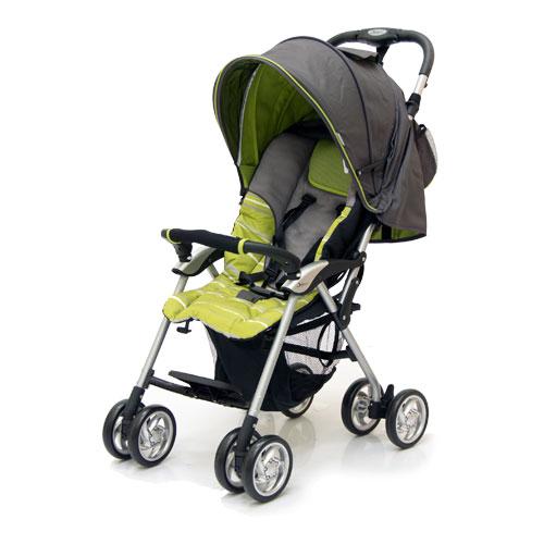 Коляска прогулочная Elegant, Dark Grey/Green, полоскаДетские коляски Capella Jetem, Baby Care<br>Коляска прогулочная Elegant, Dark Grey/Green, полоска<br>