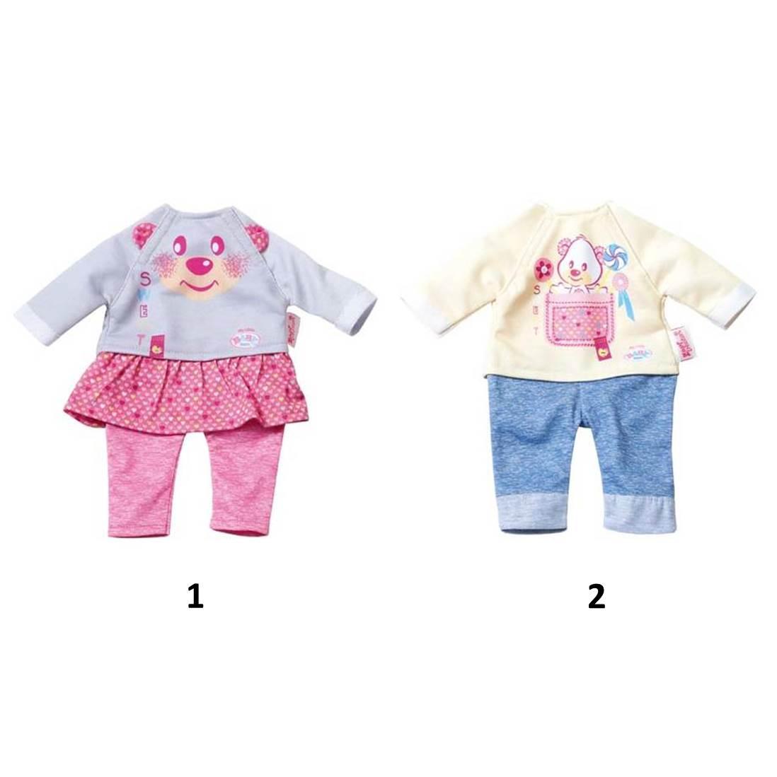 Одежда для дома куклам из серии Baby born размером 32 см., 2 вида, с вешалкойОдежда Baby Born <br>Одежда для дома куклам из серии Baby born размером 32 см., 2 вида, с вешалкой<br>