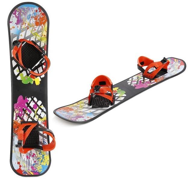 Сноуборд пластиковый с жесткими креплениямиРазное для зимних забав<br>Сноуборд пластиковый с жесткими креплениями<br>
