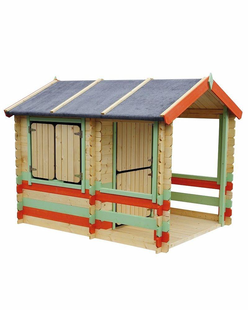 Игровой домик для детей из серии Оливия с верандой, в цвете - Пластиковые домики для дачи, артикул: 161331