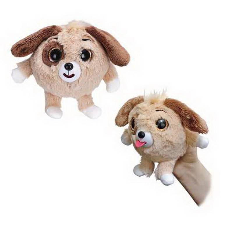 Купить Мягкая игрушка из серии Дразнюка-Zoo - Коричневая собачка, показывает язык, 13 см., в пакете, 1TOY