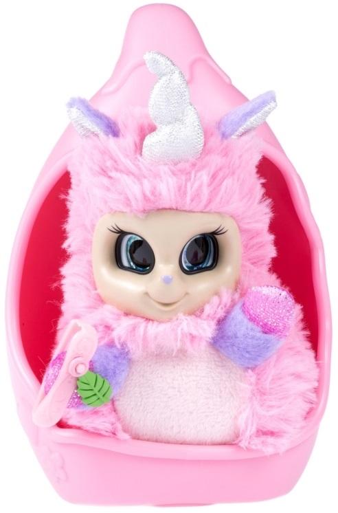 Мягкая игрушка из серии Bush baby world – Единорог Ула, 20 см, шевелит рогом, вращает глазками, со спальным коконом, заколкой и шармом