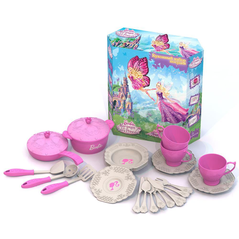 Набор кухонной посудки – Барби, 25 предметовАксессуары и техника для детской кухни<br>Набор кухонной посудки – Барби, 25 предметов<br>