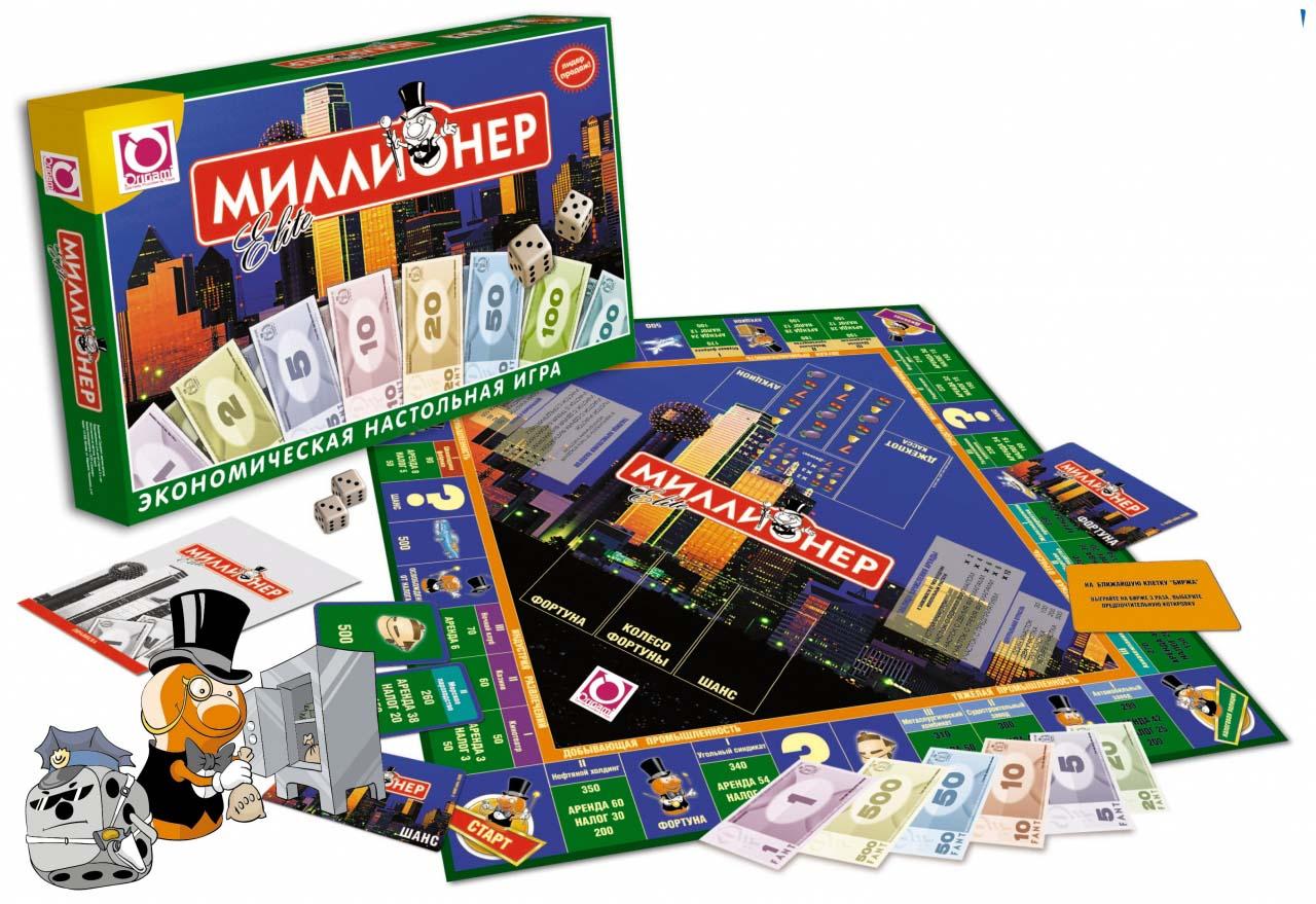 Настольная игра - Миллионер-элит.