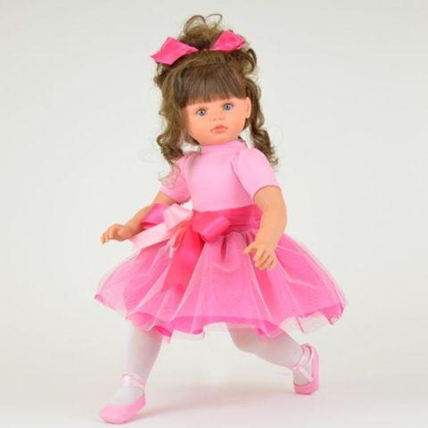 Кукла Пепа в розовой шифоновой юбке, 60 см.Куклы ASI (Испания)<br>Кукла Пепа в розовой шифоновой юбке, 60 см.<br>