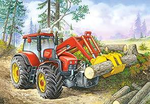 Купить Пазл Castorland 60 деталей Трактор