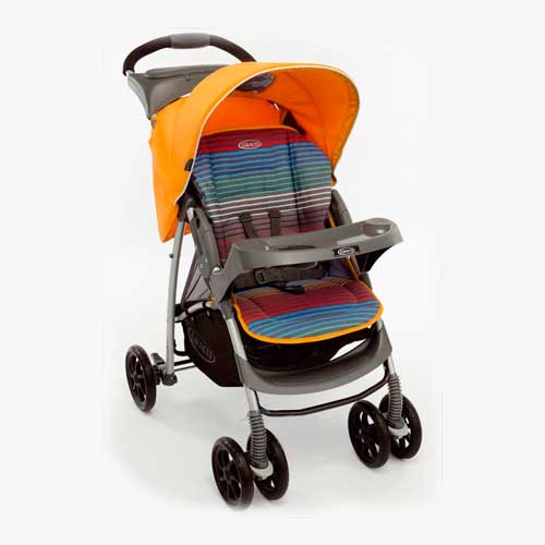 Коляска прогулочная Mirage + W Parent tray and boot, Jaffa stripeДетские коляски Capella Jetem, Baby Care<br>Коляска прогулочная Mirage + W Parent tray and boot, Jaffa stripe<br>