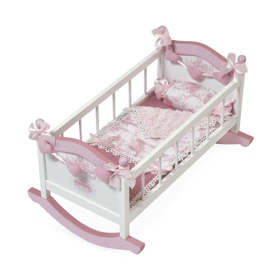 Кроватка-качалка для куклы, серия Даниэла, 56 смДетские кроватки для кукол<br>Кроватка-качалка для куклы, серия Даниэла, 56 см<br>