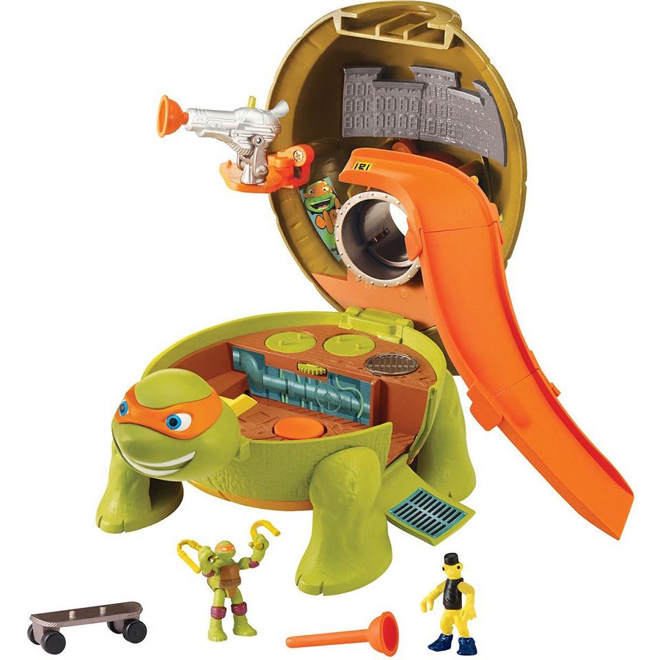 Купить Игровой микро-набор из серии Черепашки-ниндзя - Скейт парк Майки, Playmates