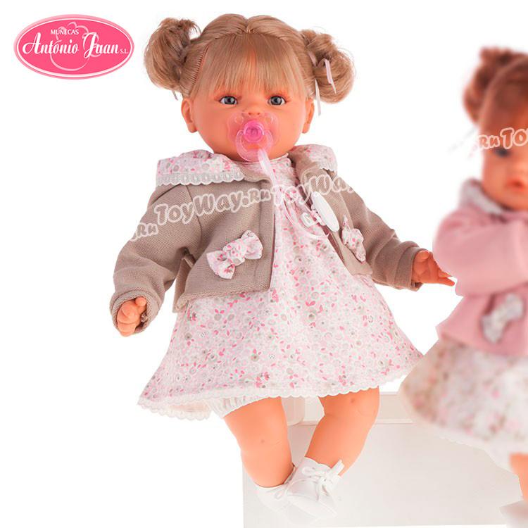 Кукла Каталина в бежевом, плачет, 42 см.Куклы Антонио Хуан (Antonio Juan Munecas)<br>Кукла Каталина в бежевом, плачет, 42 см.<br>