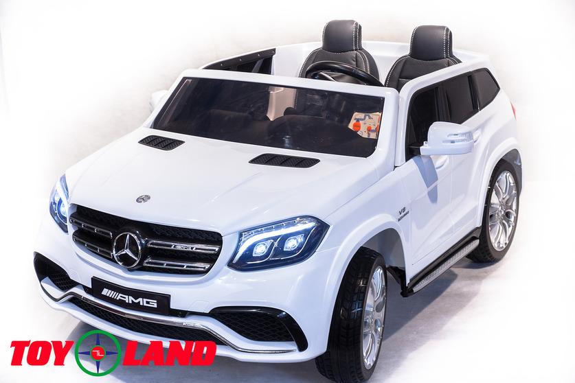 Электромобиль Mercedes-Benz GLS63 AMG, белого цветаЭлектромобили, детские машины на аккумуляторе<br>Электромобиль Mercedes-Benz GLS63 AMG, белого цвета<br>
