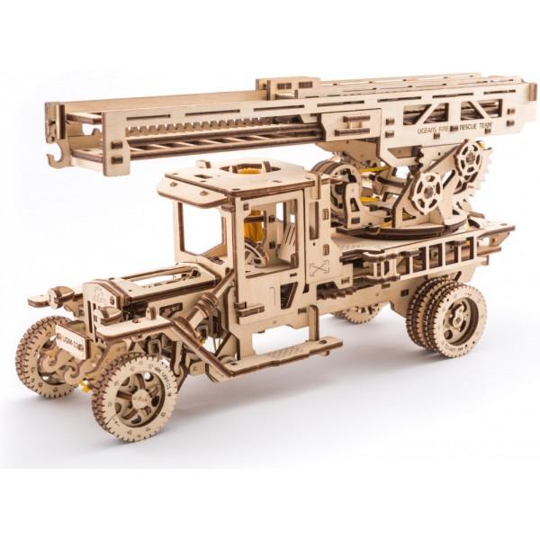 Сборная механическая модель из дерева - Пожарная лестницаДеревянный конструктор<br>Сборная механическая модель из дерева - Пожарная лестница<br>