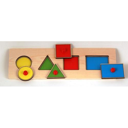 Купить Рамка-вкладыш - Геометрические фигуры, Wooden Toys