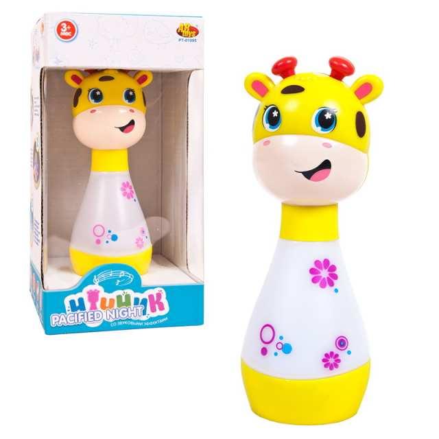Купить Ночник для малышей - Жирафик, свет и звук, ABtoys