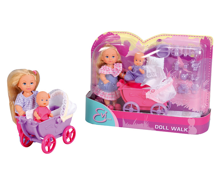 Еви с малышом на прогулке с аксессуарамиКуклы Еви<br>Еви с малышом на прогулке с аксессуарами<br>