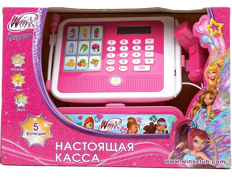 Касса «Винкс», интерактивная, со светом и звукомДетская игрушка Касса. Магазин. Супермаркет<br>Касса «Винкс», интерактивная, со светом и звуком<br>