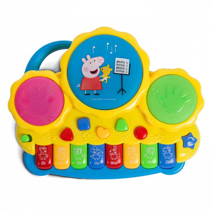 Музыкальное пианино с барабанами  Peppa Pig™Синтезаторы и пианино<br>Музыкальное пианино с барабанами  Peppa Pig™<br>
