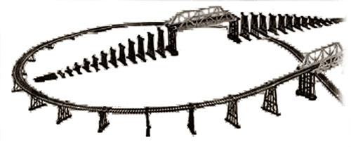 Mehano. Мост железнодорожный, с опорамиДетская железная дорога<br>Mehano. Мост железнодорожный, с опорами<br>