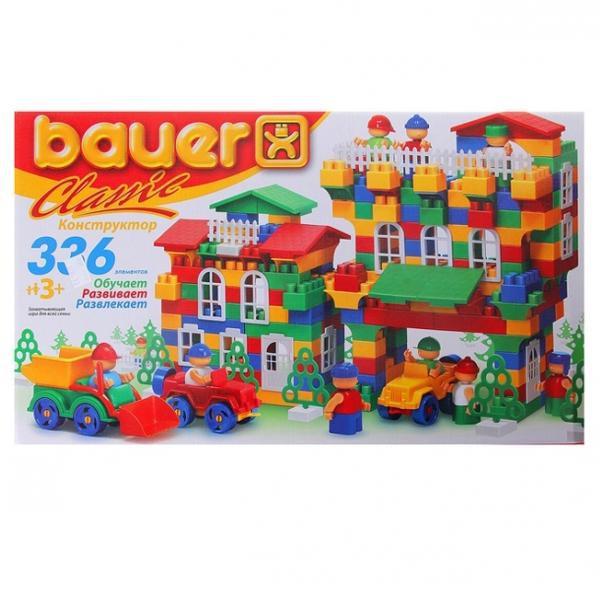 Конструктор Classik New, 336 элемента - Конструкторы Bauer Кроха (для малышей), артикул: 127327