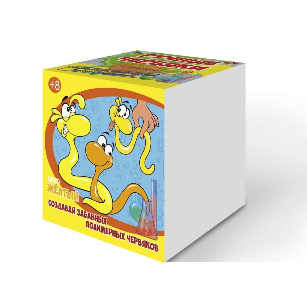 Купить Набор для опытов Good Fun GF002Y - Цветные полимерные червяки, желтый