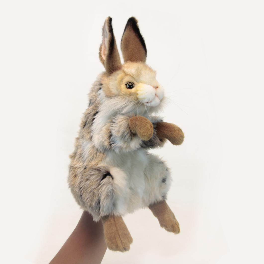 Мягкая игрушка на руку – Заяц, 35 см.