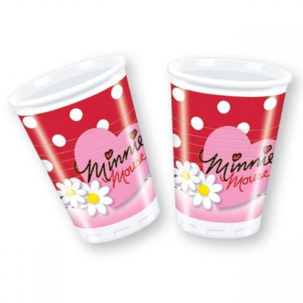 Стаканы пластиковые с маргаритками МинниМикки Маус<br>Стаканы пластиковые с маргаритками Минни<br>